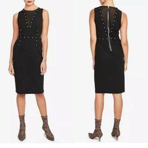 NWT Rachel Roy Grommet Mesh Inset Sleeveless Dress
